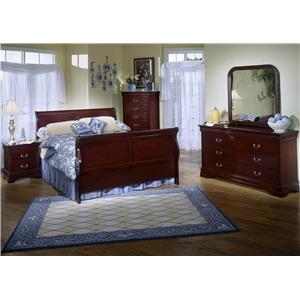 Lifestyle Louis Estates 5-Piece Queen Bedroom Set