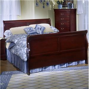 Full Sleigh Panel Bed