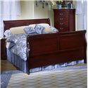 Lifestyle 5933 Twin Sleigh Panel Bed - Bed Shown May Not Represent Exact Size Indicated
