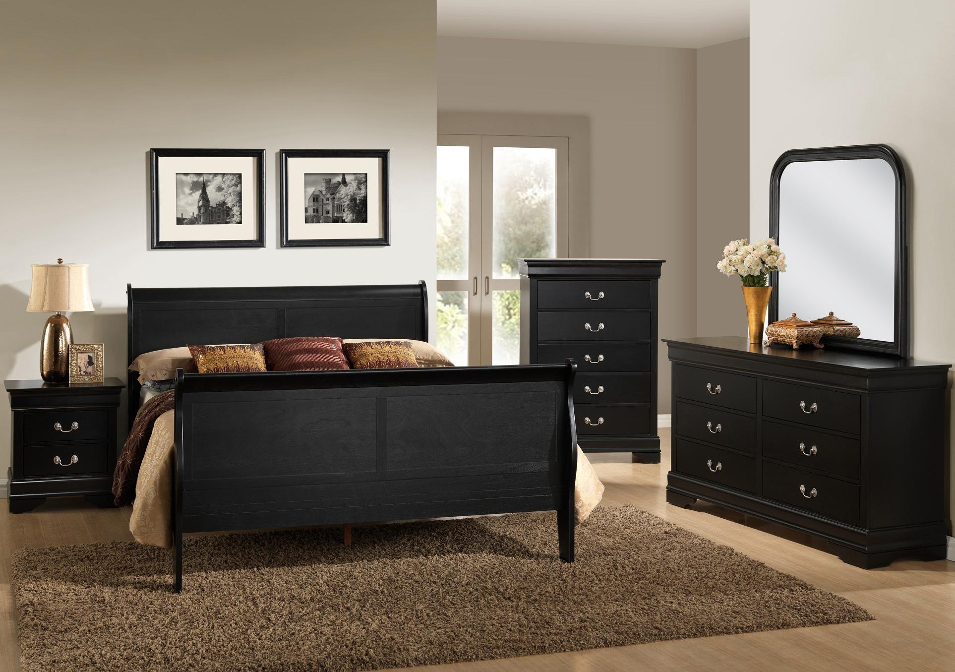 Lifestyle Louis Phillipe Queen 4-Piece Bedroom Group - Item Number: C5934 Power Package