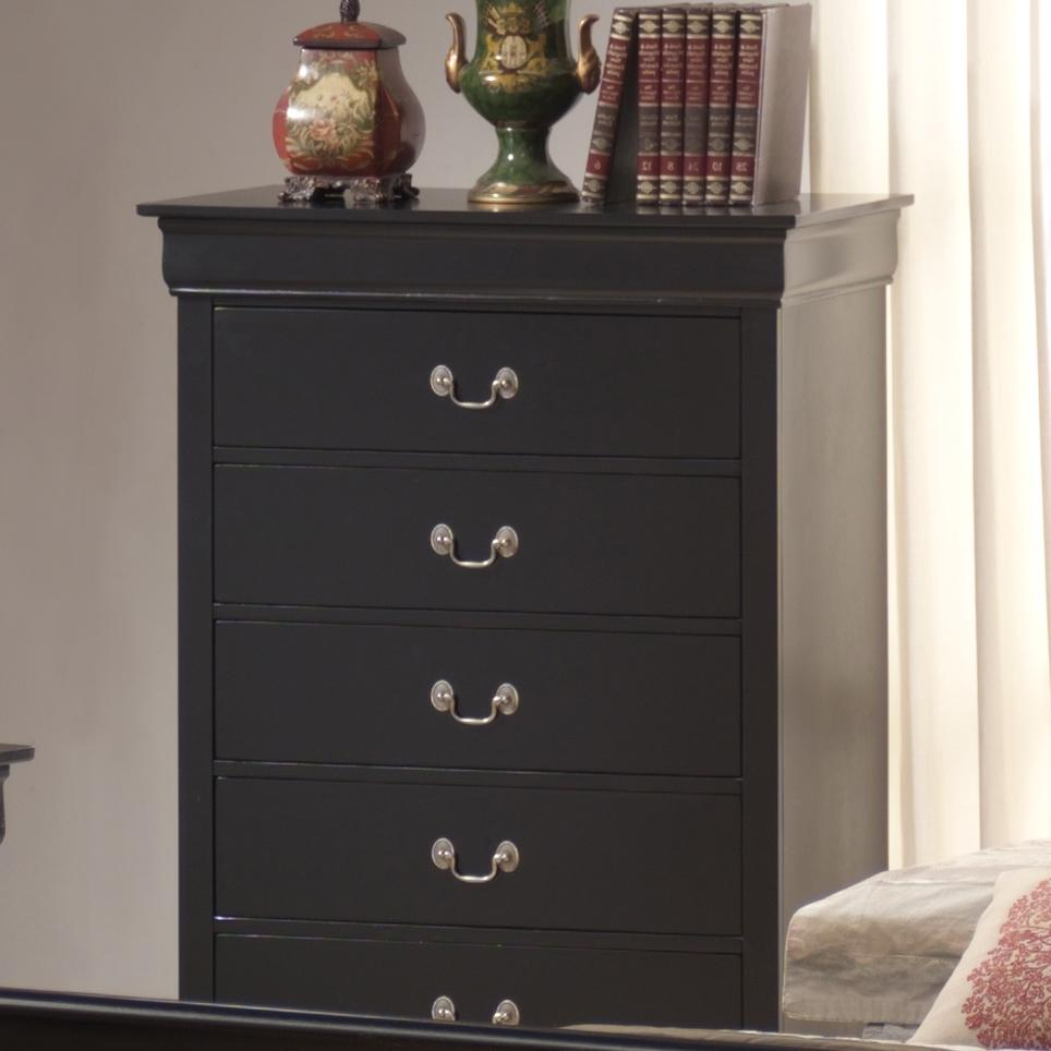 Lifestyle Louis Phillipe 5 Drawer Chest - Item Number: C5934A-030-5DBL