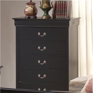 Lifestyle Louis Phillipe 5 Drawer Chest