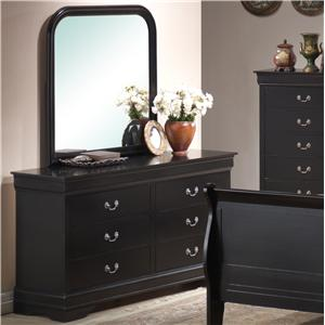 Lifestyle Louis Phillipe Dresser & Mirror Combo