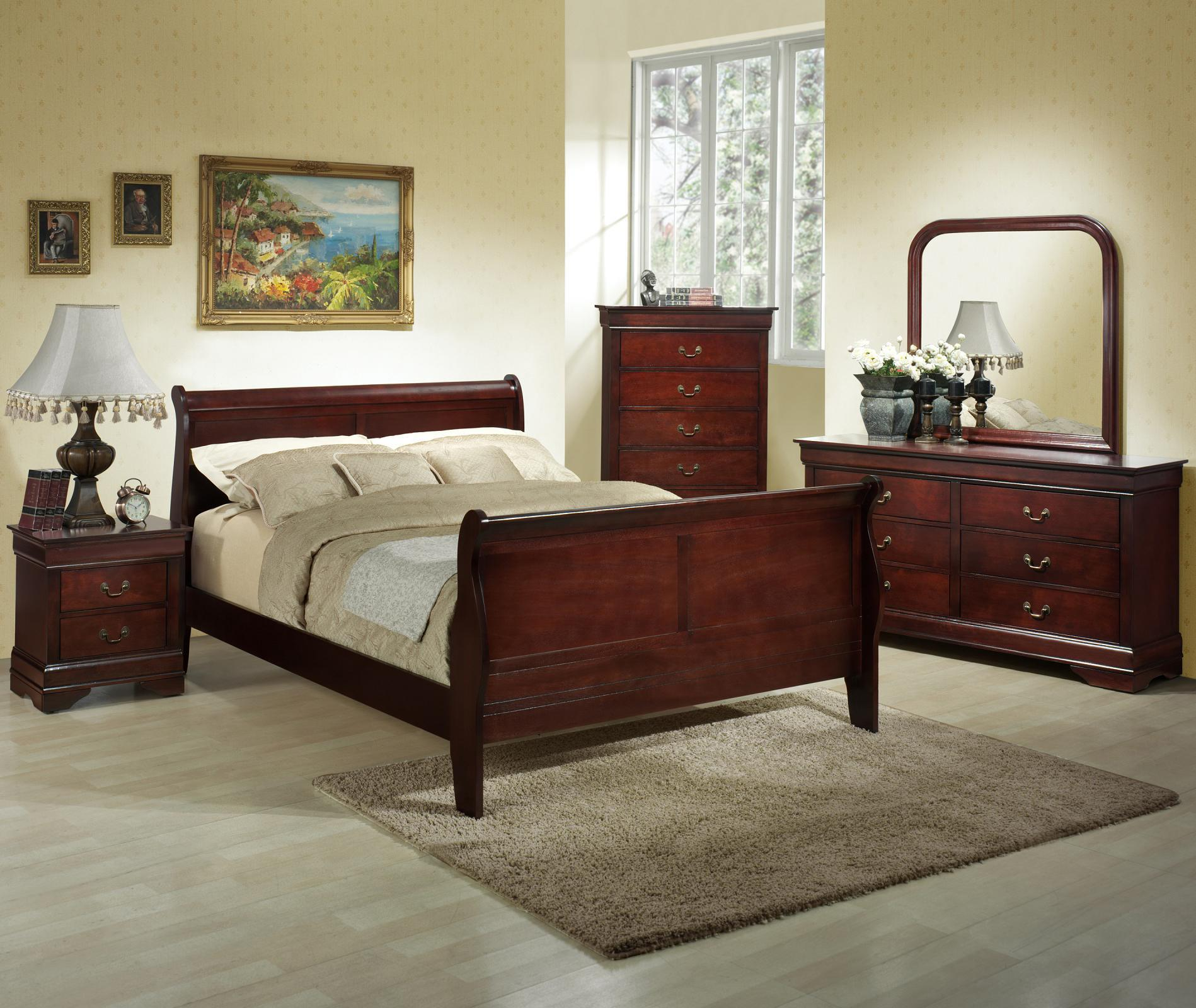 Lifestyle Louis Phillipe Queen 6-Piece Bedroom Group - Item Number: 5933A Q Bedroom Group 2