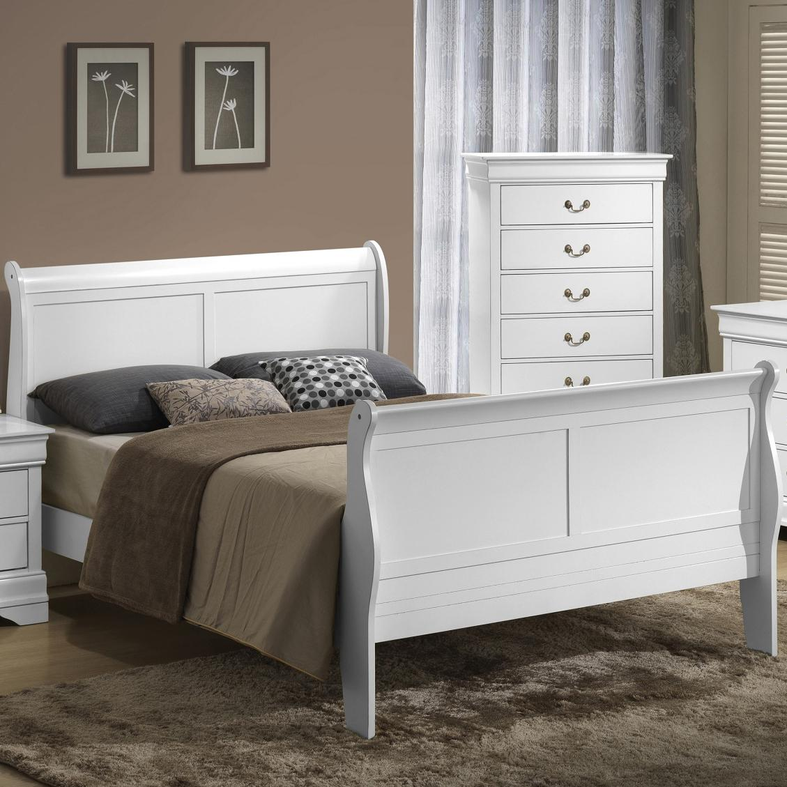 Lifestyle 5939 Full Sleigh Bed - Item Number: C5939A-FSA+FXP