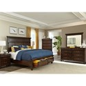 Lifestyle 6168A 3 Drawer Night Stand with Full Extension Glides
