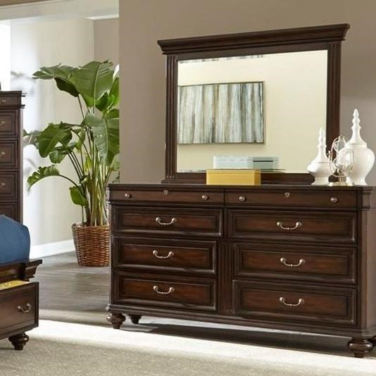 Lifestyle Harrison 8 Drawer Dresser and Mirror - Item Number: C6168A-045-8DXX+C6168A-050-MHXX