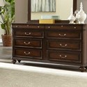 Lifestyle 6168A 8 Drawer Dresser with Full Extension Glides