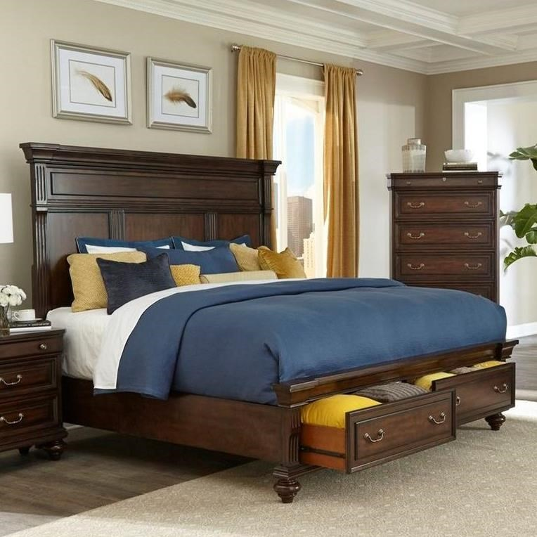 Lifestyle Harrison Traditional Queen Storage Bed - Item Number: C6168A-QT0+C6168A-Q10-2D+C6168A-BTN