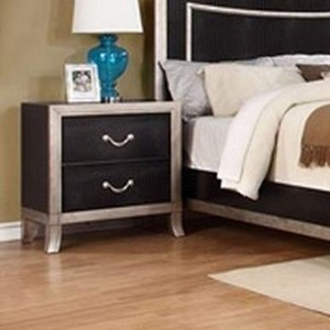 Lifestyle 6199A 2 Drawer Nightstand