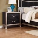 Lifestyle Natalia 2 Drawer Nightstand - Item Number: C6199A-025-2DXX