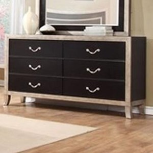 Lifestyle 6199A 6 Drawer Dresser
