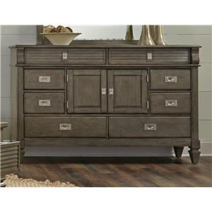 Lifestyle 6204G Grey Washed Dresser