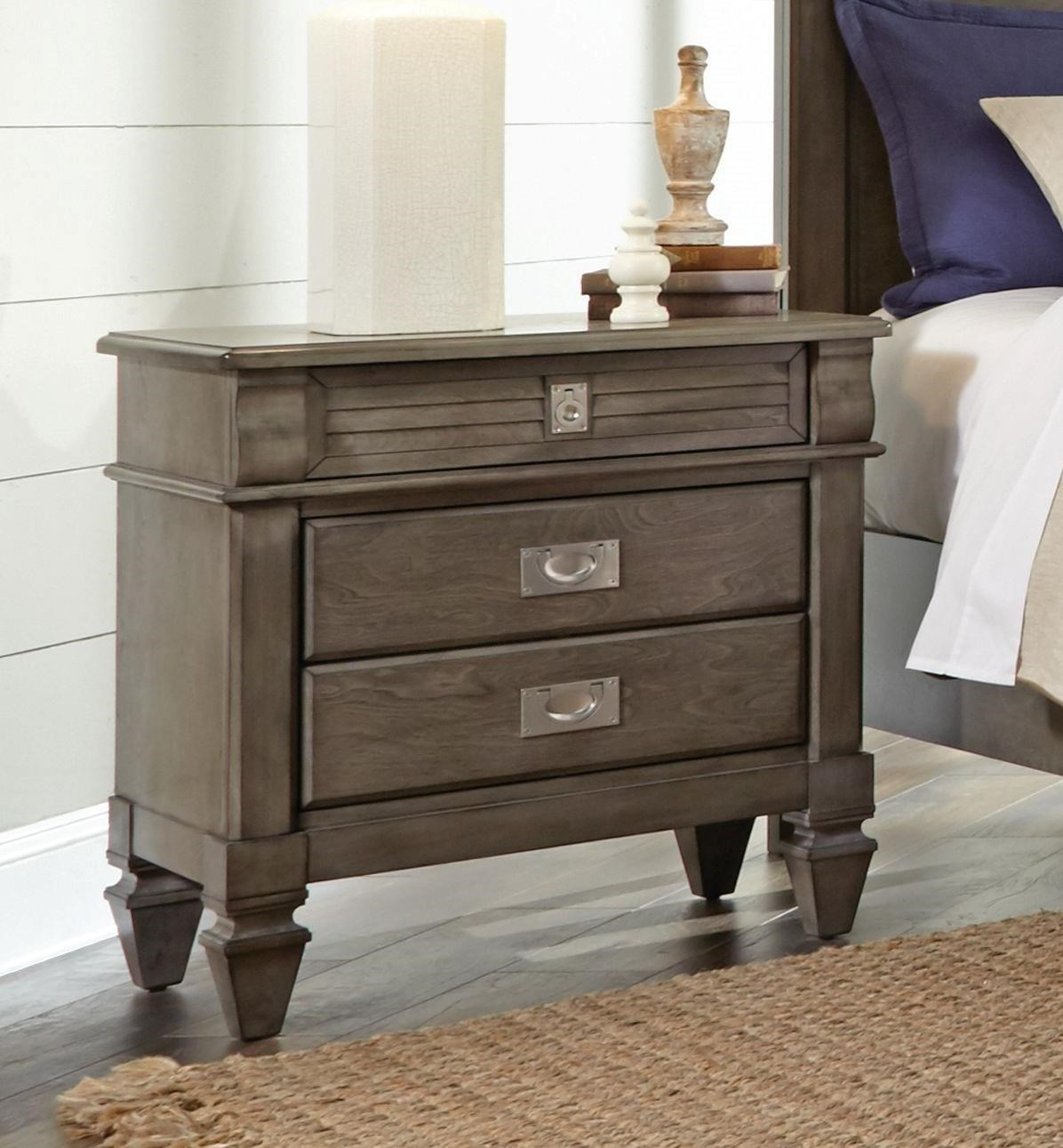 Lifestyle 6204G Grey washed nightstand - Item Number: 6204g-NS