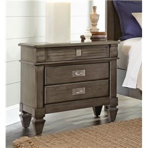Lifestyle 6204G Grey washed nightstand