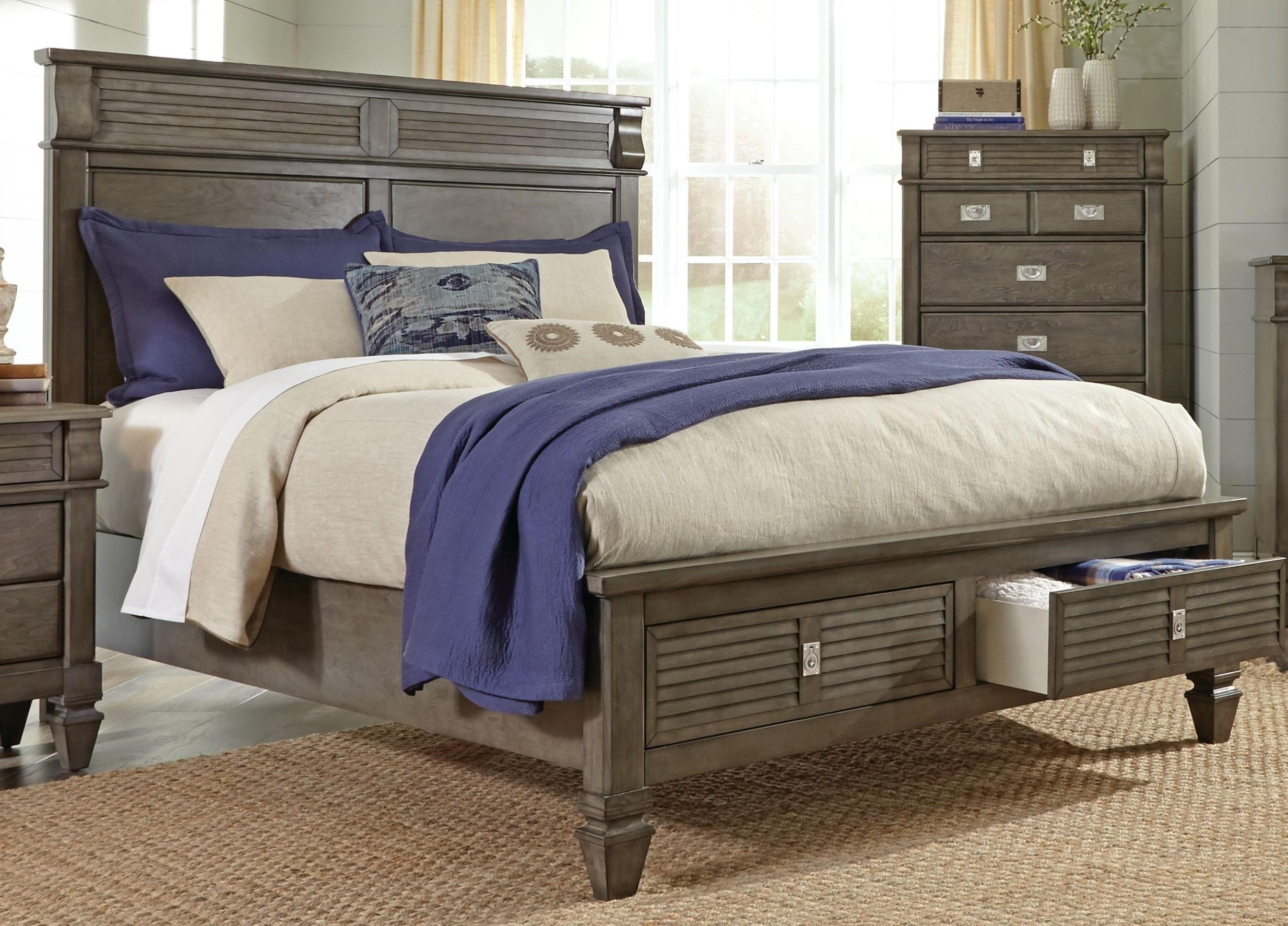 Lifestyle 6204G Queen size storage bed - Item Number: 6204G-Q