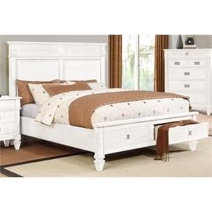 Lifestyle 6204W King Size Storage Bed