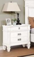 Lifestyle 6204W White Nightstand