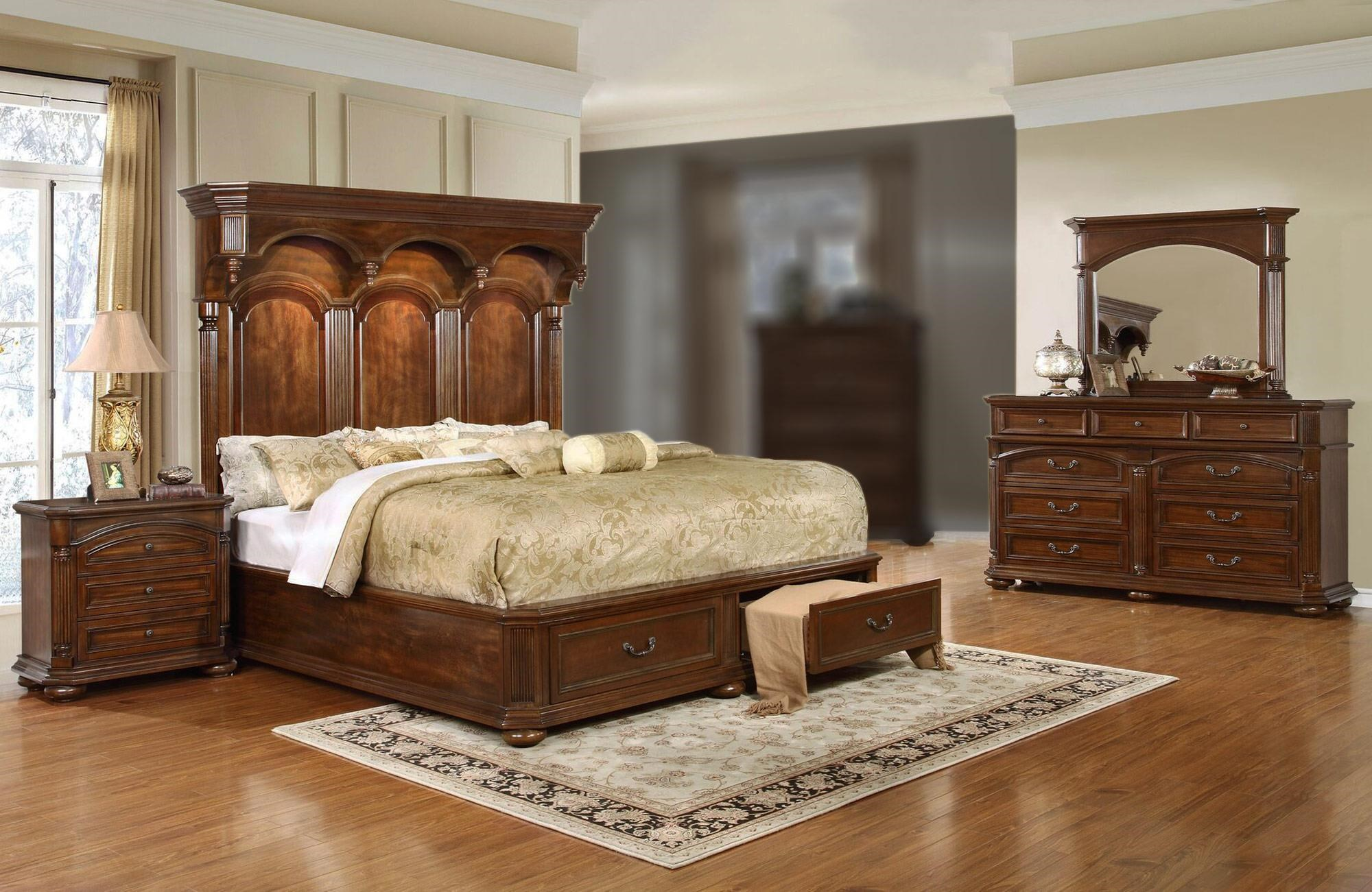 Lifestyle Empire 4PC King Storage Bedroom Set - Item Number: C6258A-4PC-KBR