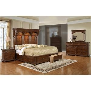 Lifestyle Empire 4PC Queen Storage Bedroom Set