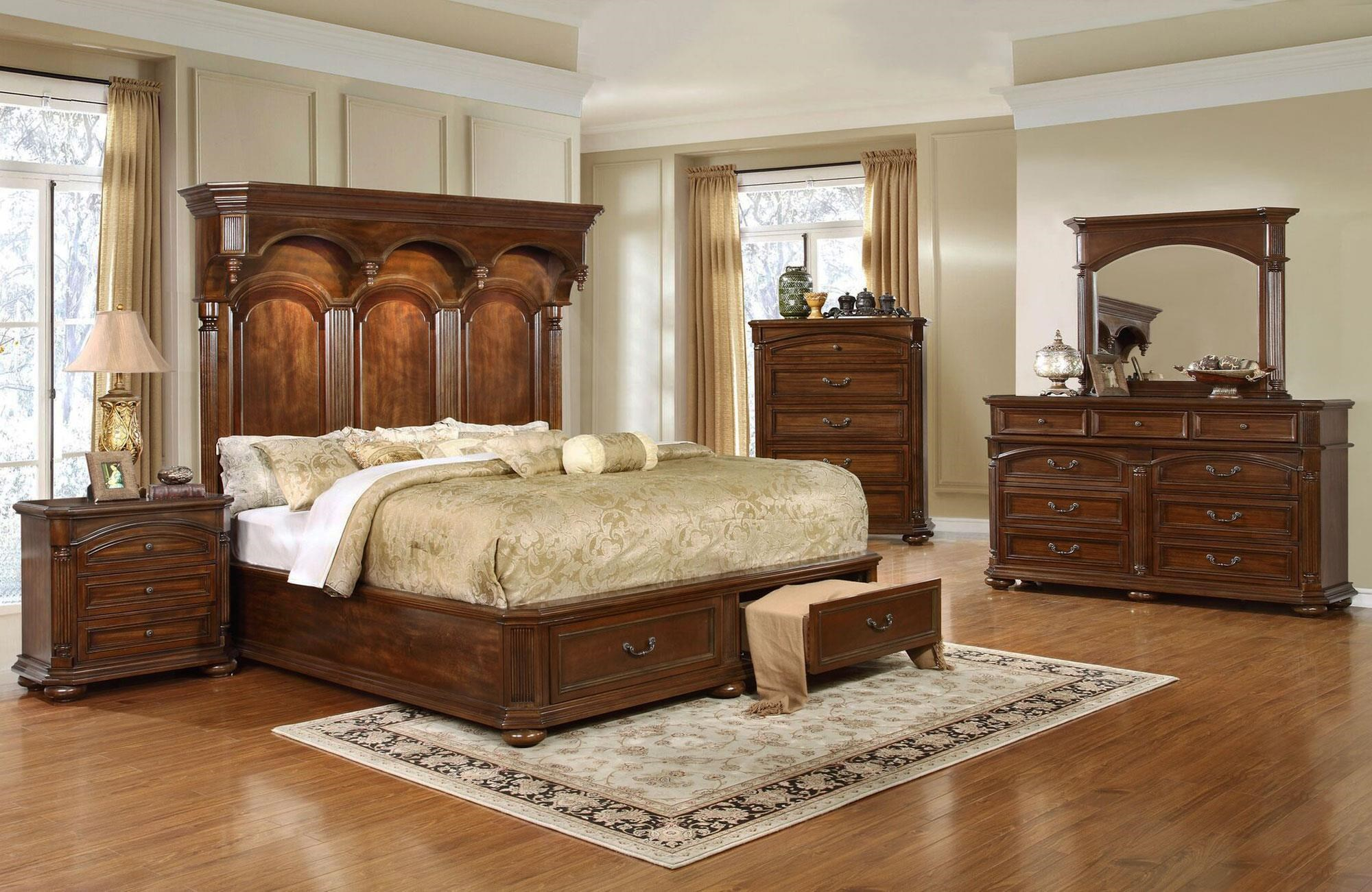 Lifestyle Empire 5PC King Storage Bedroom Set - Item Number: C6258A-5PC-KBR