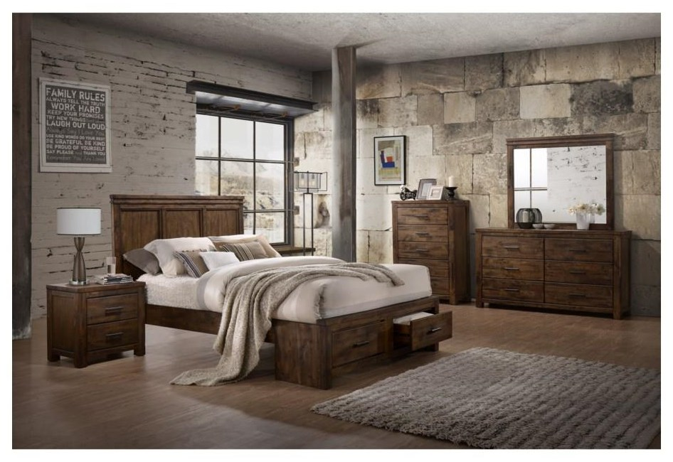 6 Piece Queen Storage Bedroom Group