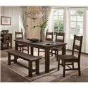 Lifestyle Appleton 6PC Dining Room Set - Item Number: 6377D-6PC-DRS