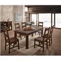 Lifestyle 6377D 7 Piece Dining Group - Item Number: 6377D-DTY-6DSC