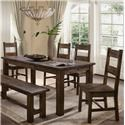 Lifestyle Kristen 5 Pc Dining Group - Item Number: C6377D-DTY+4xDS2