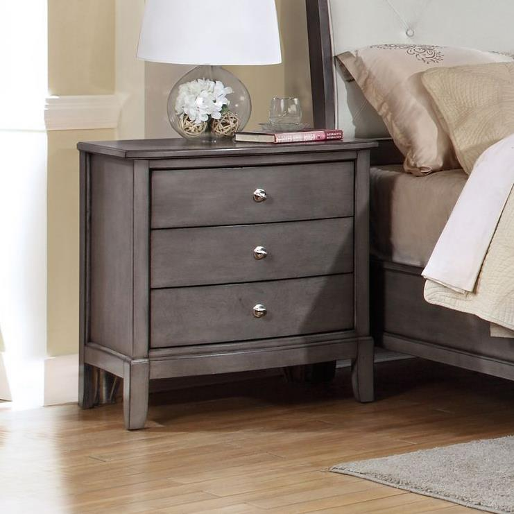 Alex Express Life 7185 Nightstand, 3 Drawers  - Item Number: C7185G-020
