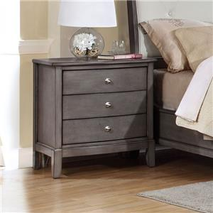 Lifestyle 7185 Nightstand, 3 Drawers