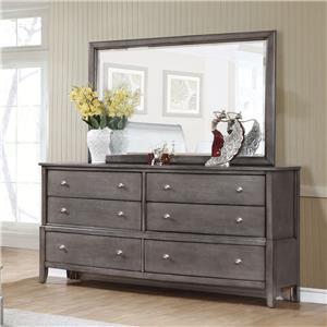 Lifestyle 7185 Dresser and Mirror Set