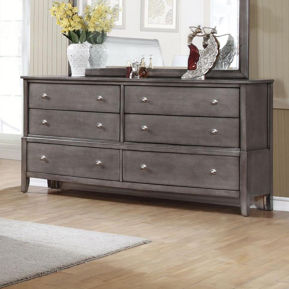 Alex Express Life 7185 Dresser, 6 Drawers  - Item Number: C7185G-040