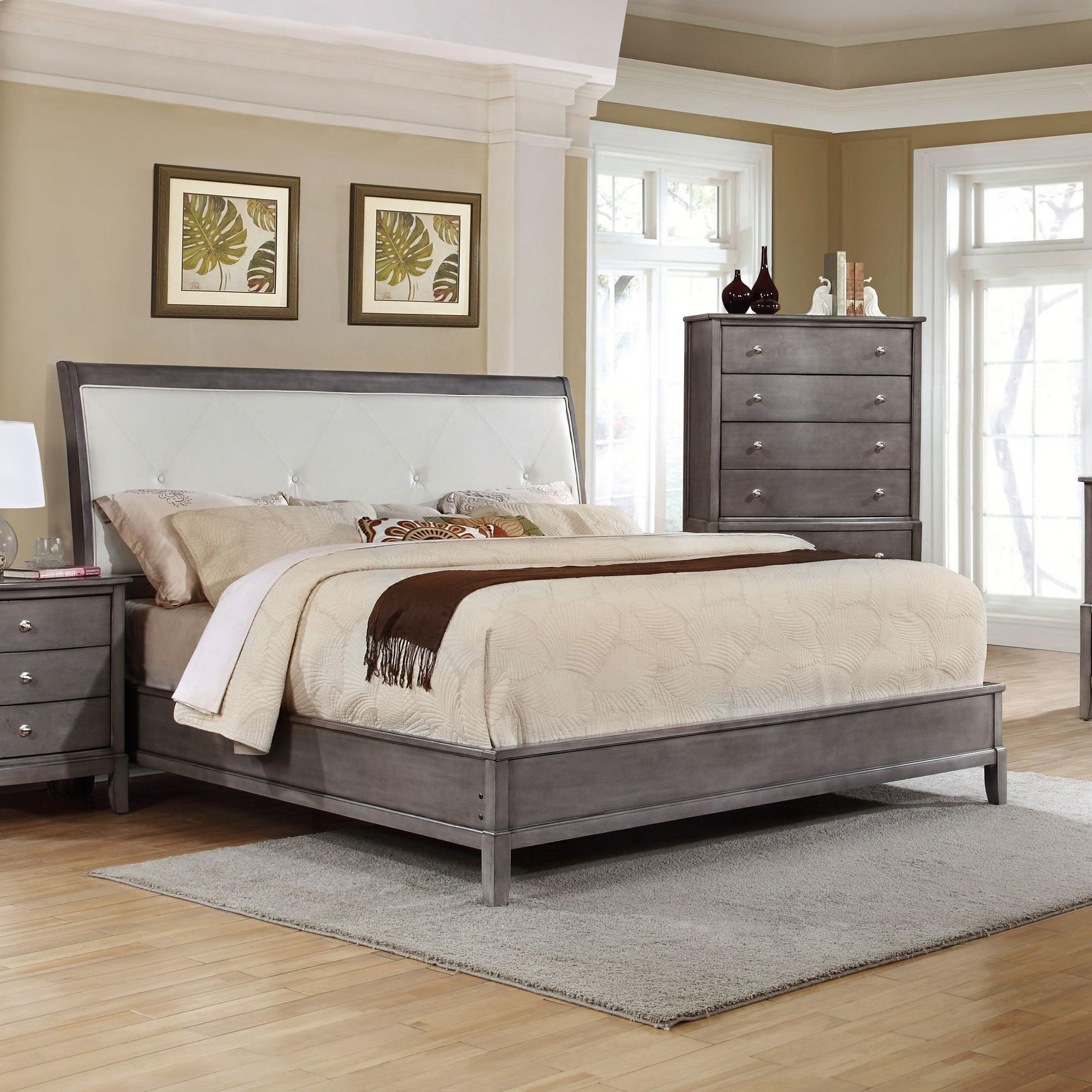 Alex Express Life 7185 King Upholstered Bed with Storage - Item Number: C7185G-KUB+BUN