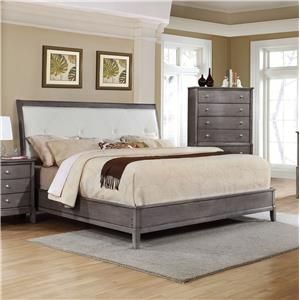Alex Express Life 7185 King Upholstered Bed with Storage