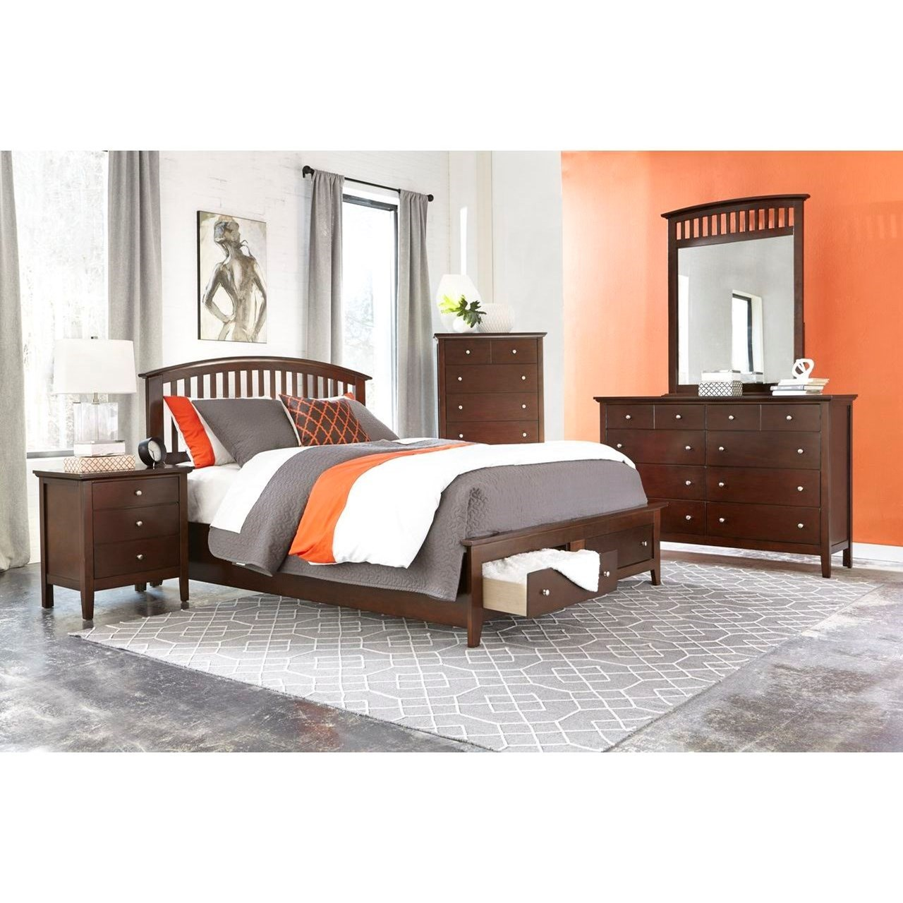 Lifestyle Bryce 5PC Queen Storage Bedroom Set - Item Number: 8237A Q Bedroom Group 1