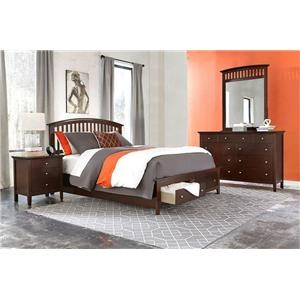 Lifestyle Bryce 4PC King Storage Bedroom Set