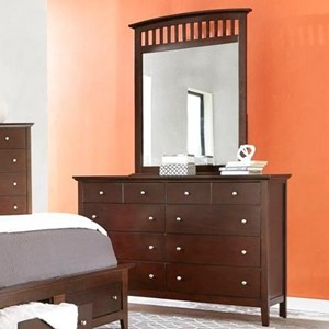 Lifestyle 8237A Dresser and Mirror Combo