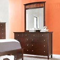 Lifestyle 8237A Dresser and Mirror Combo - Item Number: C8237A-040-8DXX+050-MHXX