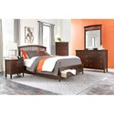Lifestyle 8237A 8 Drawer Dresser and Mirror Combo