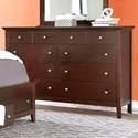 Lifestyle Bryce 8 Drawer Dresser in Whiskey Finish