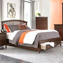 Lifestyle 8237A King Storage Bed with 2 Drawer Footboard - Bed Shown May Not Represent Size Indicated