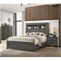 Lifestyle 8321 5 Piece Queen Bookcase Bedroom Group - Item Number: 576383219