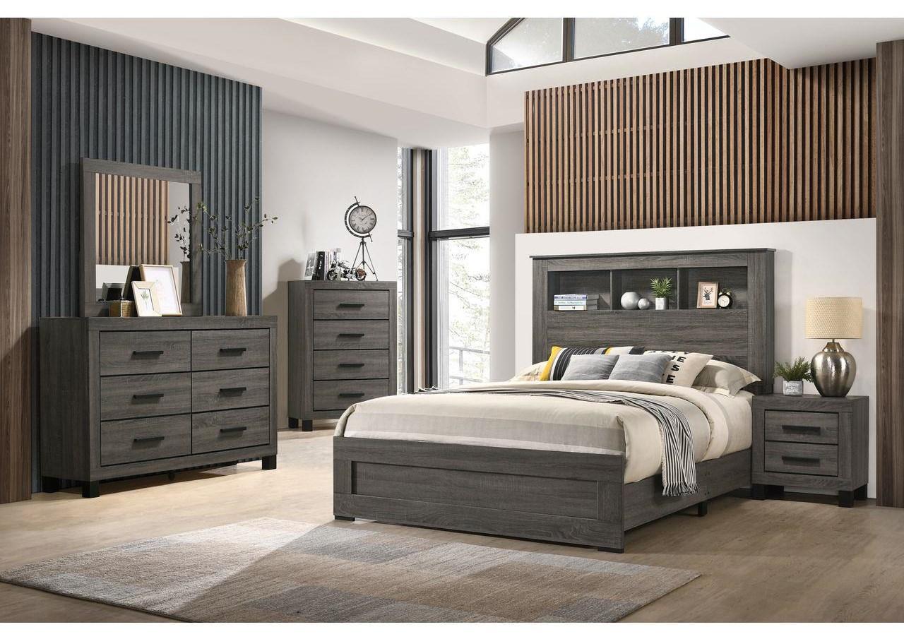 6 Piece Queen Bookcase Bedroom Group