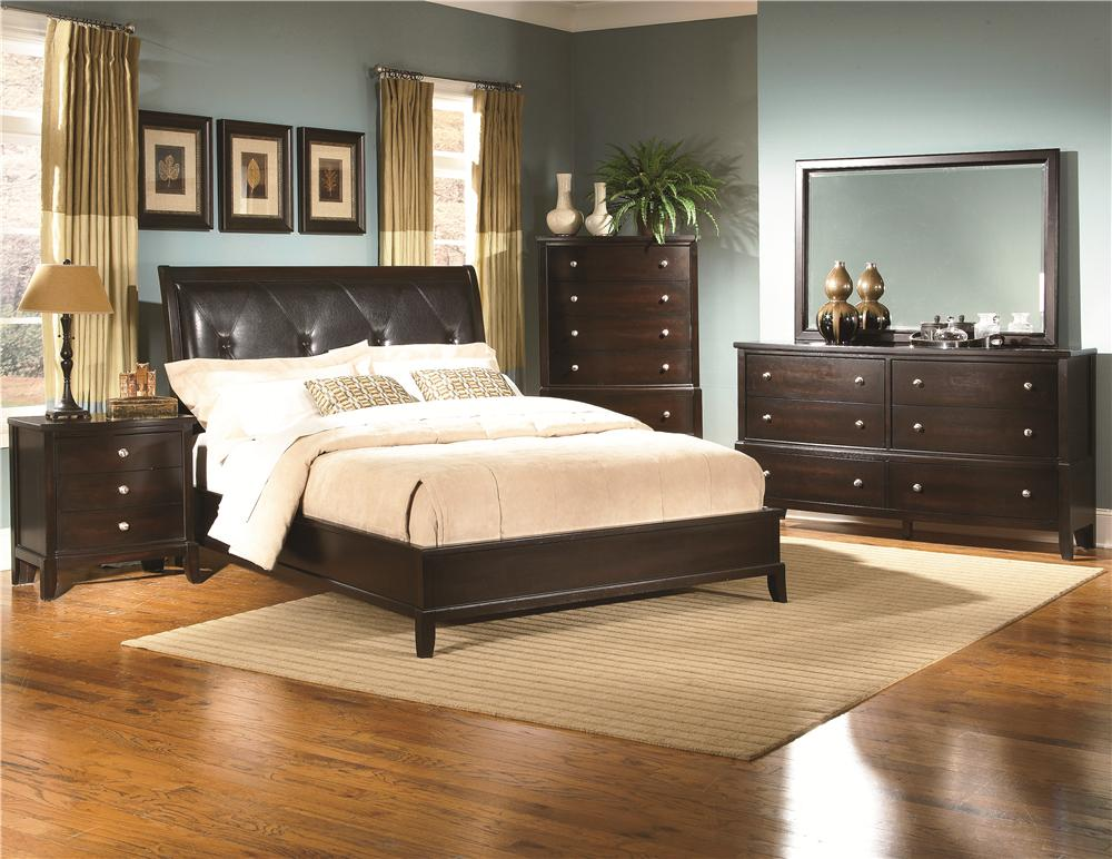 Lifestyle 7185A Queen Bedroom Group - Item Number: Q BED-RES-MIRR-N-STAN