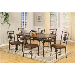 Lifestyle DC088 5 Piece RECTANGULAR DINING TABLE SET WIT