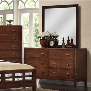 Lifestyle 9142 Dresser and Mirror Set