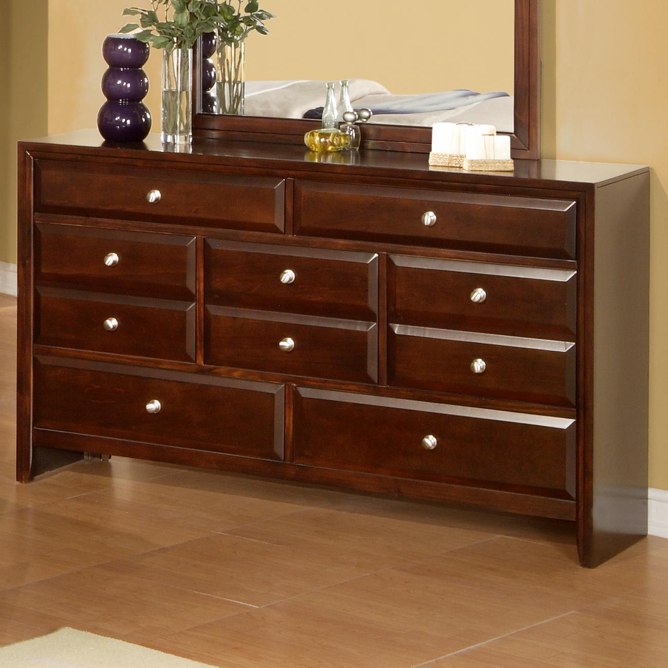 Lifestyle 9180 Drawer Dresser - Item Number: C9180A-040-7DME