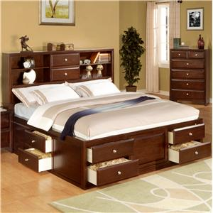 Lifestyle 9180 King Storage Bed | BigFurnitureWebsite | Captain's Bed