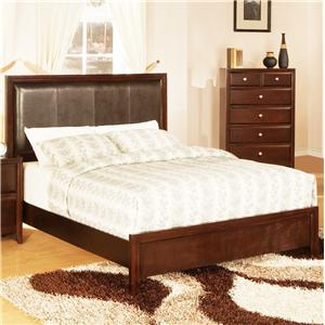 Lifestyle 9180 California King Upholstered Panel Bed